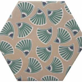 Carrelage hexogonal, la tomette grès cérame good vibes - GO0812006