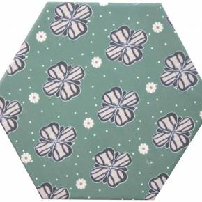 Carrelage hexagonal, la tomette grès cérame good vibes - GO0812007