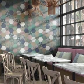 Carrelage hexagonal, la tomette grès cérame good vibes - GO0812014