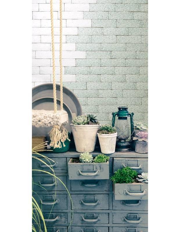 Carrelage briquette terrazzo vert - CI8503004