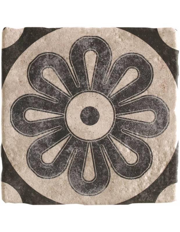 Carrelage rétro sol et mur mat noir 20 x 20 cm - WI0603002