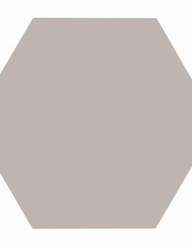 Carrelage uni hexagonal gris en grès cérame de 15 mm d'épaisseur