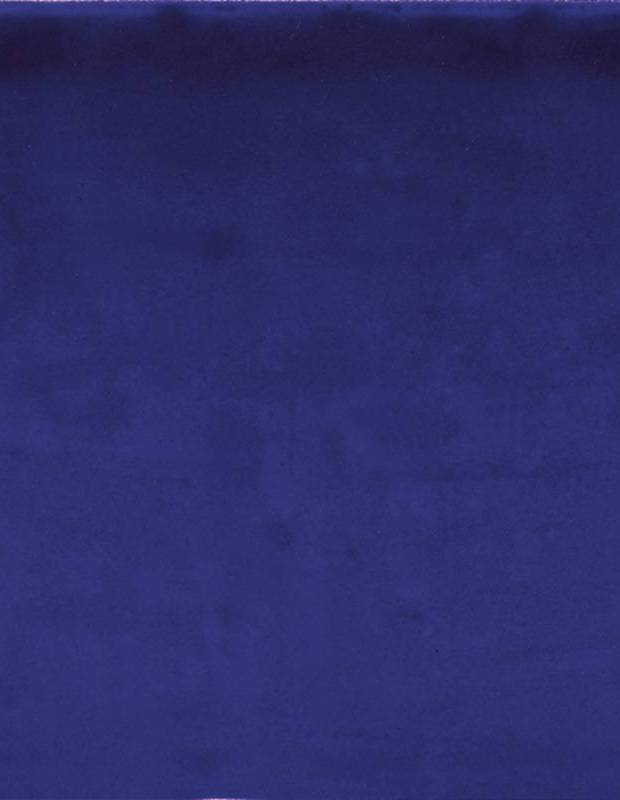 Faïence murale bleue style artisanal 15x15 cm - TR3504002