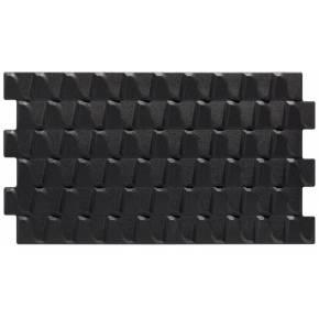 Revêtement mural noir à relief design - HA4131002