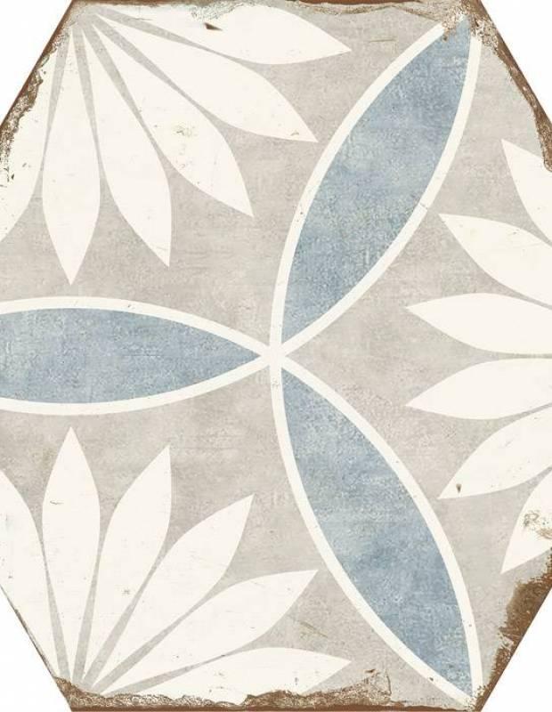 Carrelage hexagonal rétro imitation carreau de ciment - BO8506002