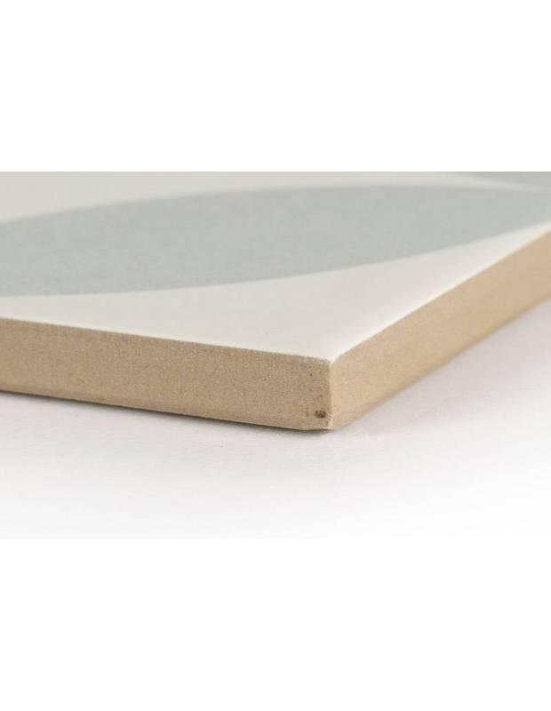 Carrelage grès cérame 25 x 25 cm ancien à cercles gris - DO1713006