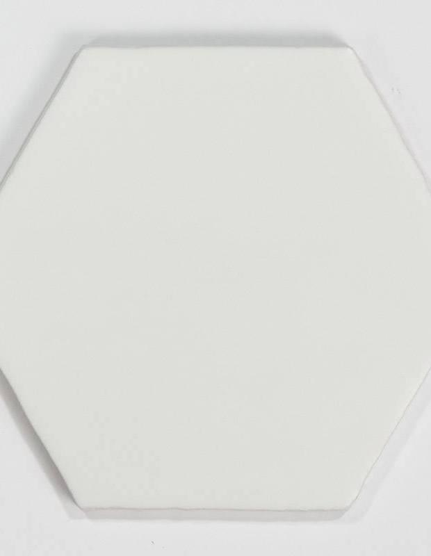 Carrelage hexagonal mat blanc 15 x 15 cm - HE0811001