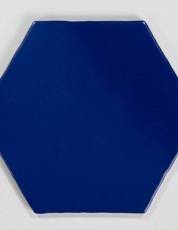 Carrelage hexagonal mat bleu 15 x 15 cm - HE0811004