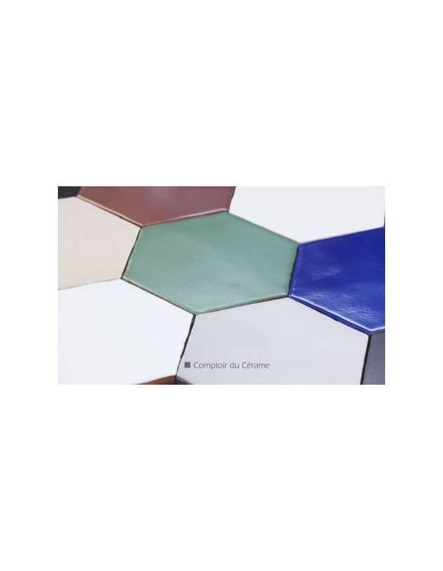 Carrelage hexagonal mat noir 15 x 15 cm - HE0811007