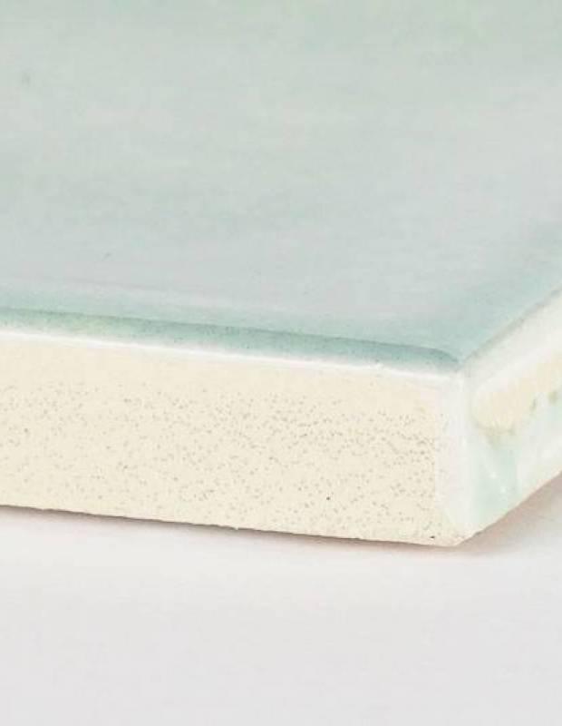 Zellige bleu pâle rectangulaire 7.5 x 30cm - émail brillant - NA9505003