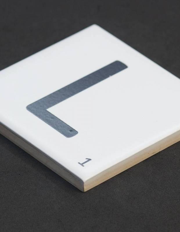 Carrelage scrabble lettre L 10 x 10 cm - LE0804012