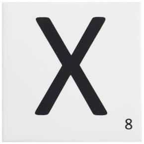 Carrelage scrabble lettre X 10 x 10 cm - LE0804024