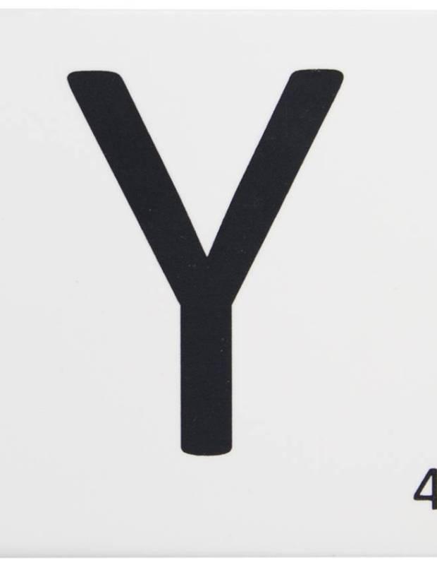 Carrelage scrabble lettre Y 10 x 10 cm - LE0804025