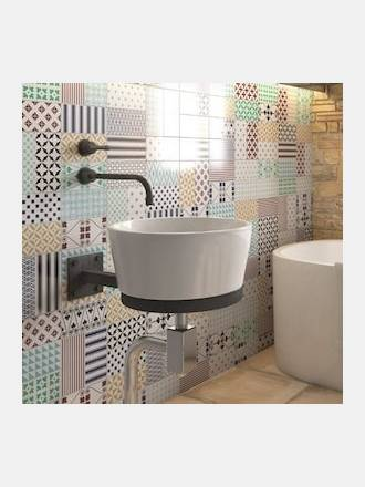 carrelage salle de bain du sol au mur douche et cr dence. Black Bedroom Furniture Sets. Home Design Ideas
